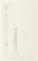 Drawing from a set of sixteen architectural details from Hindu and Muhammadan buildings in India, including Colgong, Deo, Bodhgaya. 1788-93 1774